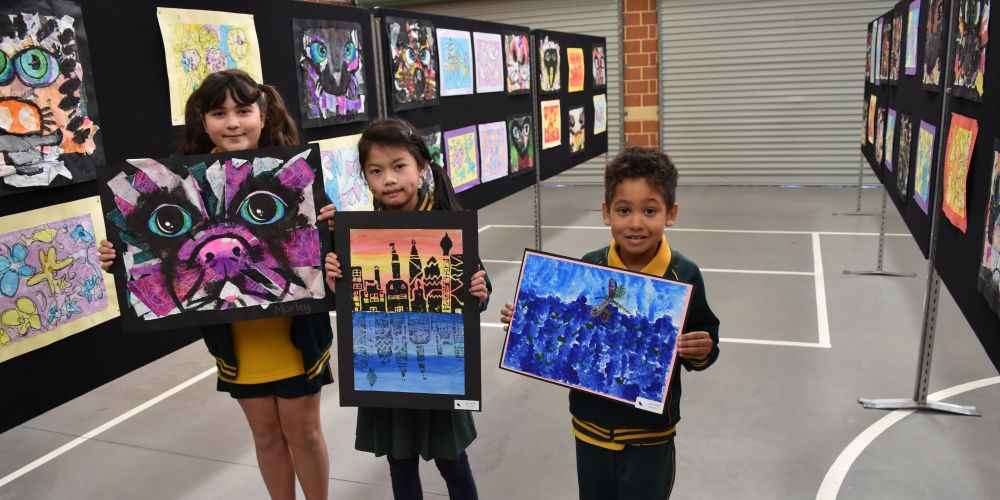 Morley Primary School student Marley Ngatai (10, of Morley), Ngoc Nguyen (8, of Ballajura) and Jaxon Currie (7, of Morley) Pictures: Kristie Lim