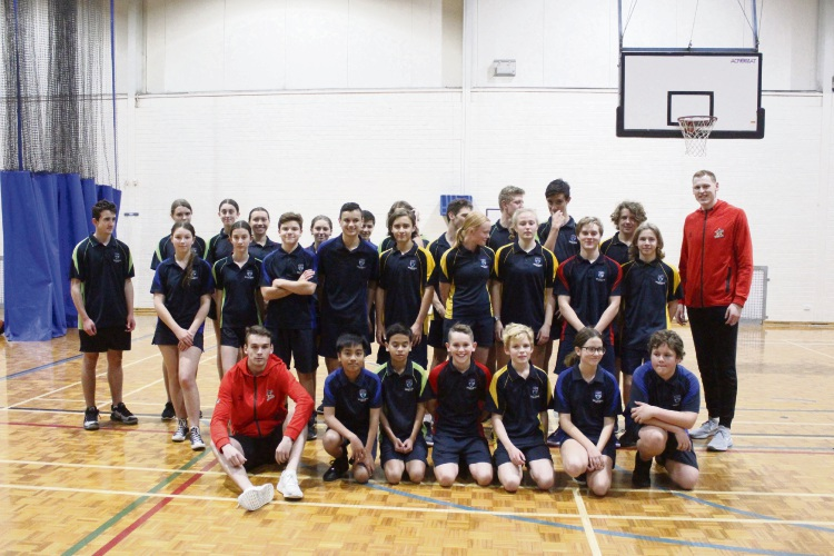 Perth Wildcats play ball with students