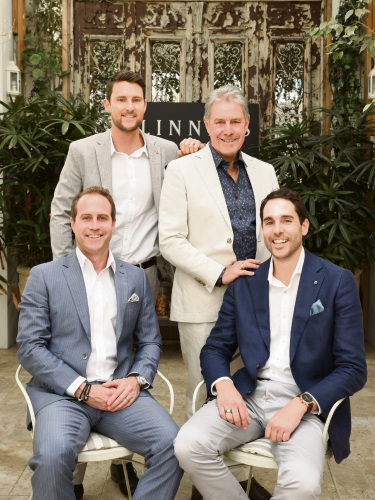Left to right – Creative Director Justin Linney, Founder Alan Linney, Sales Manager Nathan Linney and Finance and Operations Manager Troy Linney.