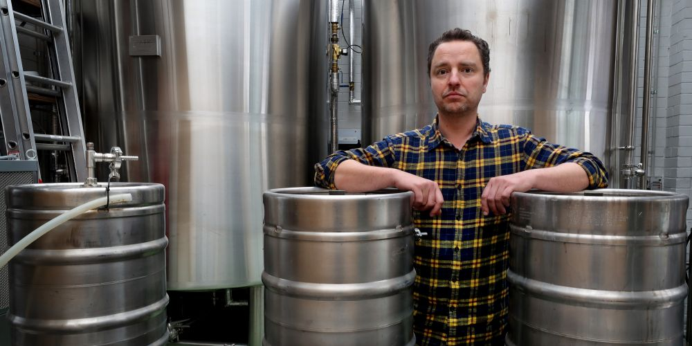 Nick Southwell, co-owner of the Seasonal Brewing Company in Maylands. Picture: Nic Ellis/The West Australian.