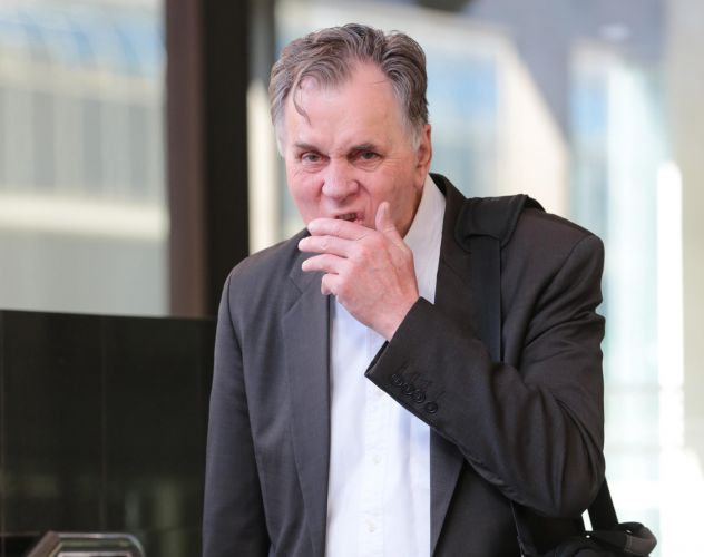 Nobel Prize winner Professor Barry Marshall leaves the Perth Magistrates Court. Picture: The West Australian
