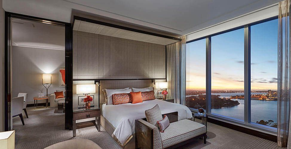 A deluxe villa room at Crown Towers. Photo: Crown