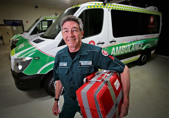 Peter Burns (71), of Woodvale, is retiring after 41 years as a paramedic with St John Ambulance. Pictures: David Baylis d495582