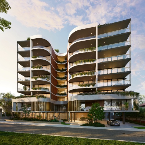 An artist's impression of the Sanctuary apartments.