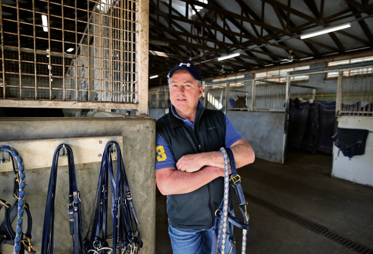 Trevor Andrews at his stable in Ascot.