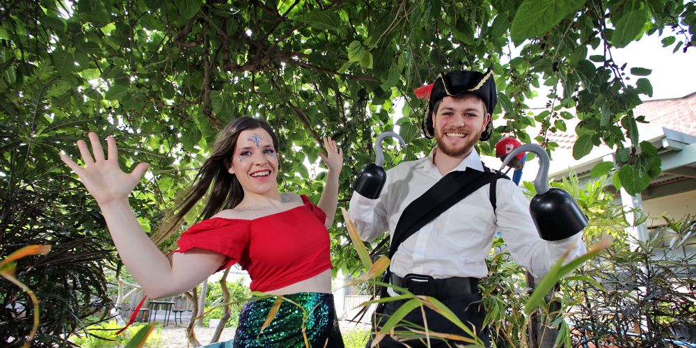 L-R: Julia Newsome of Maylands as a mermaid and Joe Ryan of Nedlands as a pirate.  Pictures: David Baylis.      www.communitynews.com.au    d495645