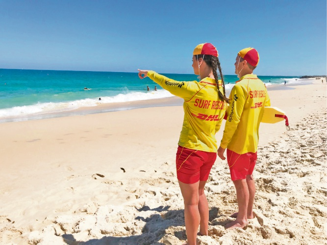 Perth surf lifesavers. Photo: Surf Life Saving WA