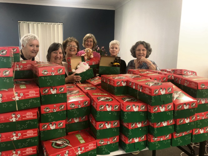 Packing party for Operation Christmas Child
