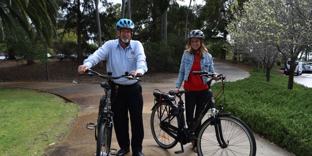 City of Bayswater chief executive Andrew Brien and sustainable environment strategy officer Jennie Arts. Picture: Kristie Lim
