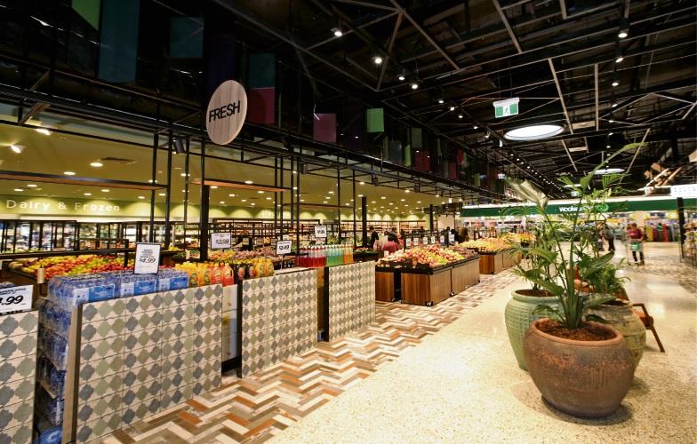 The renovated fresh food precinct at The Square Mirrabooka. Photo: David Baylis