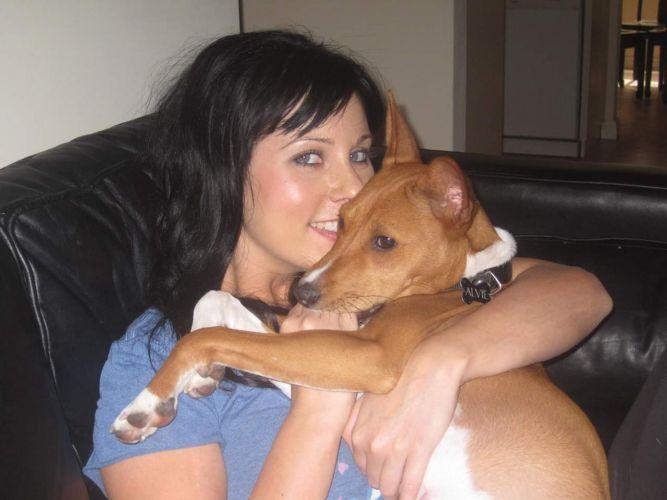 Sara and her beloved pooch.