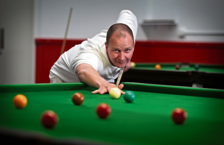 Carl Caton at Q's Pool and Snooker. Picture: David Baylis www.communitypix.com.au d495205
