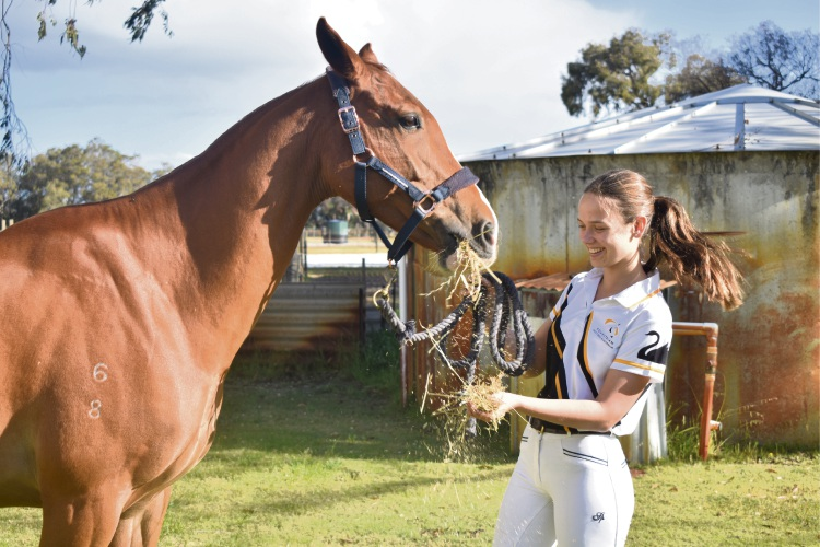 Teen captains WA equestrian team at nationals