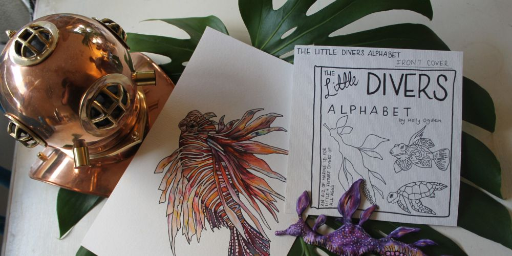 Holly Ogden is putting together a book on marine life, called The Little Divers Alphabet.