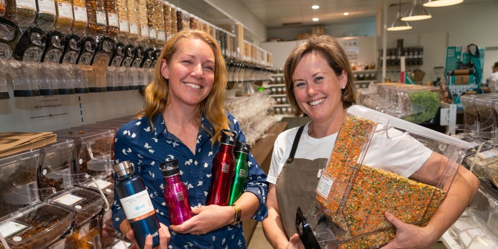 Wasteless Pantry co-founders Amanda Welschbillig and Jeannie Richardson at the Bassendean store.