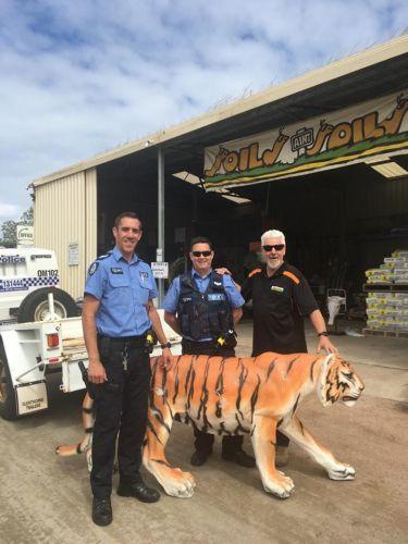 Police earn their stripes with feline find