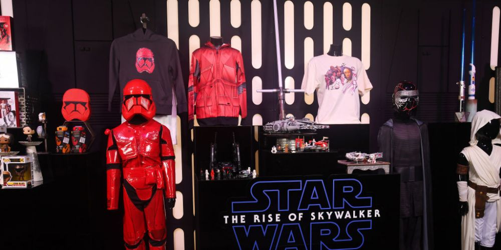 Star Wars products on display. Photo: Getty