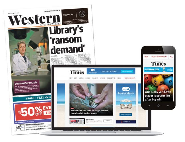 The combined Community News print and digital platforms reach 45.3 per cent of people in the Perth/Mandurah area.
