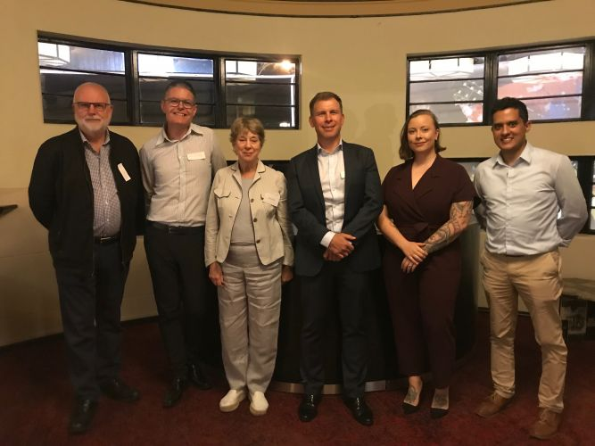 496090pa Subiaco candidates Peter McAlister, Benjamin Dudley, Barbara Booth, David Eden, Shannon Hennessy and Thierry Yik Long.