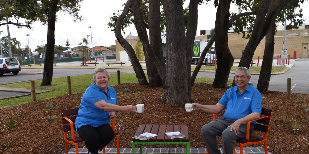 City of Bayswater's Age Friendly Ambassadors Ingrid Shubert and Don Francis. Picture: Kristie Lim