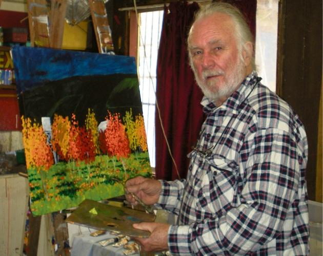 Brian Aylward in his studio.
