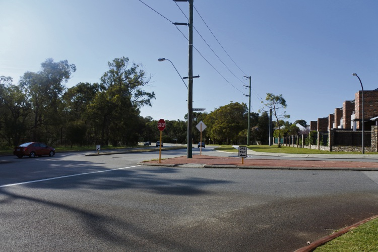 The intersection of Cromarty Road and Empire Avenue in Floreat. Photo: Laura Pond