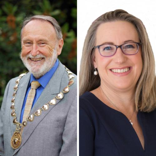 Current Mayor Max Hipkins and current Hollywood Ward councillor Cilla de Lacy.
