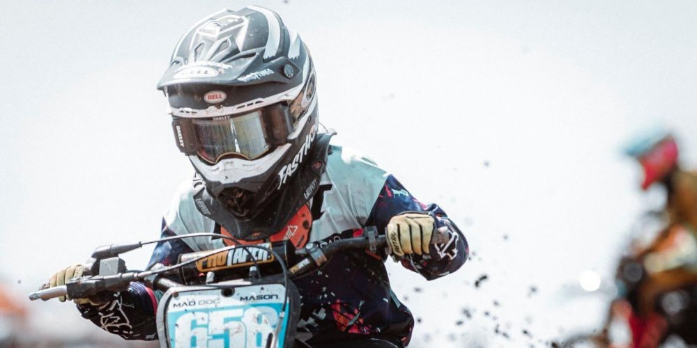 Mason Brown was crowned a national champion at the 2019 Australian Junior Motocross Championships. Picture: Jack Foley/Facebook