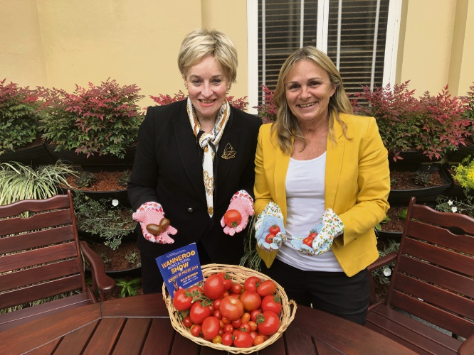 Agriculture and Food Minister Alannah MacTiernan and Wanneroo MLA Sabine Winton will judge tomatoes at the Wanneroo Show.