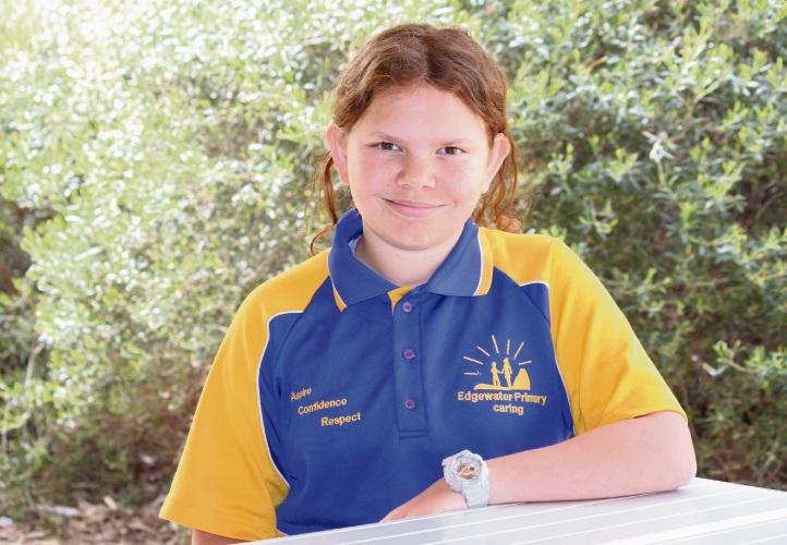 Edgewater Primary School Year 6 student Chloe Casley.