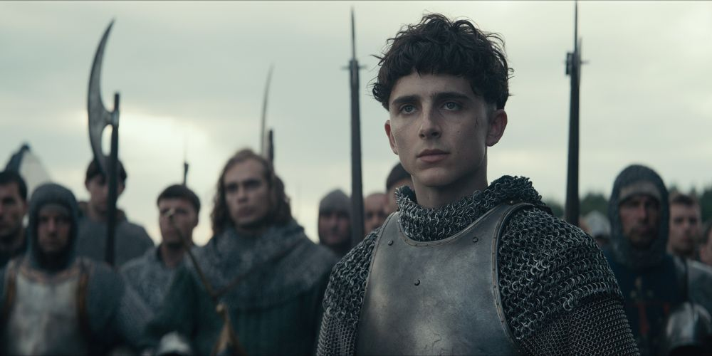 Timothee Chalamet as Henry V in The King. Photo Credit: Netflix