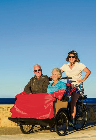 Cycling without Age trishaw rolls into town