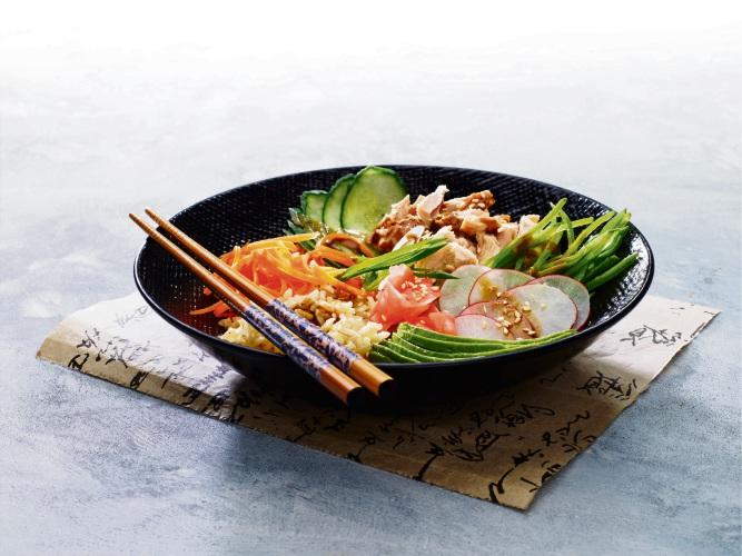 Japanese Sesame Tune Rice Bowl.