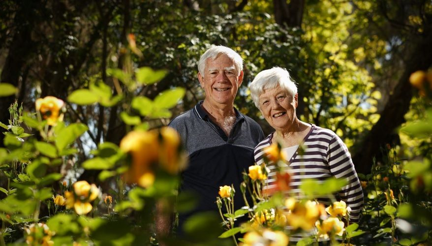 Barry and Lorraine Young at Amanda's Garden in Southern River. Photo: Andrew Ritchie.