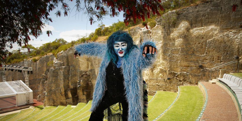 Paula Parore as Grizabella at Quarry Amphitheatre. Picture: Andrew Ritchie d496292