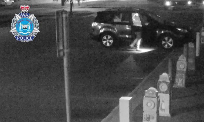 The car theft unfolding last Tuesday night. Photo: WA Police