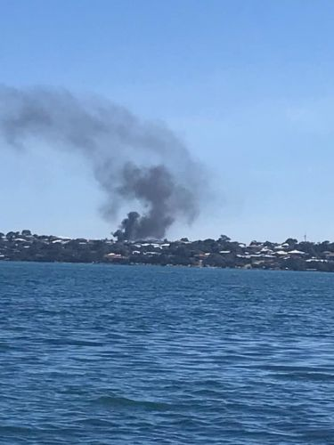 Electrical fault causes boat fire