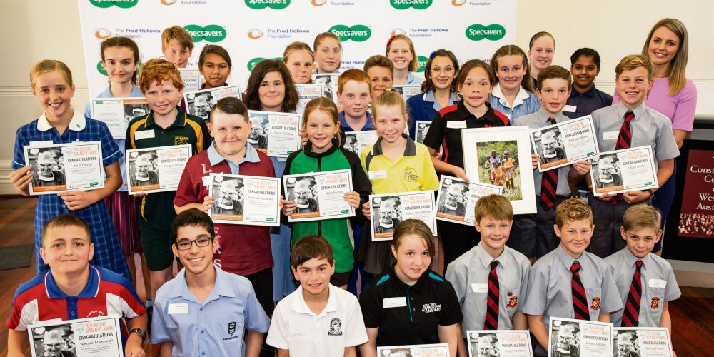 Year 6 students from across the state were recognised at the Fred Hollows Humanity Awards.