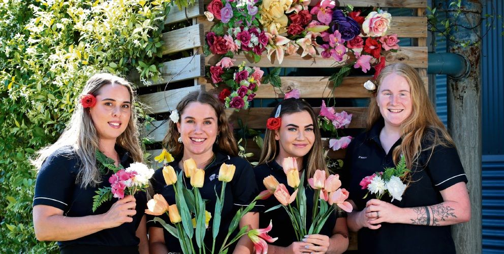 SAGEvents members Eliza Halls, Meg Lewis, Jayne Levy and Mikayla Buck will host A Blooming Affair for Youth Focus. Picture: David Baylis d496472
