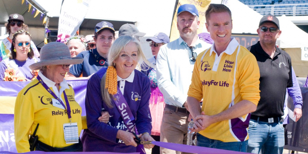 Relay for Life Joondalup Wanneroo chairwoman Pat Strahan with Wanneroo Mayor Tracey Roberts and Joondalup Mayor Albert Jacob. Pictures: Relay for Life Joondalup Wanneroo