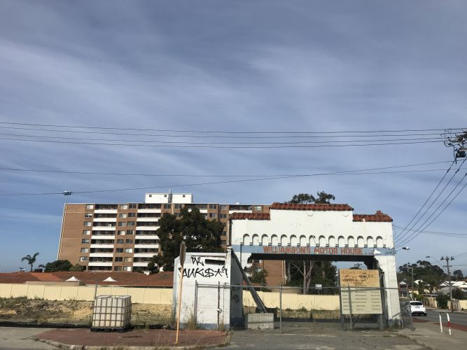 The Williamson's Motor House site in Maylands. Picture: Kristie Lim