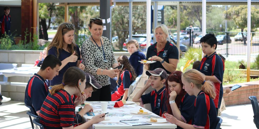 West Coast Secondary Education Support Centre held a silent morning tea to promote communication awareness.