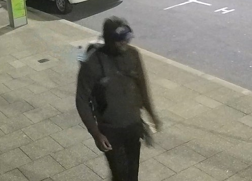 The man responsible was caught on CCTV.