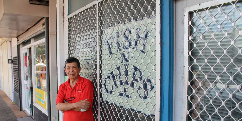 Willagee Fish and Chip owner James Loh.