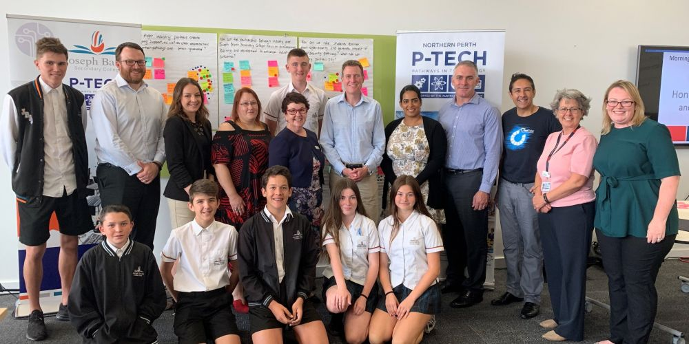 The P-Tech pilot program partnership launch at Joseph Banks Secondary College. Pictures supplied