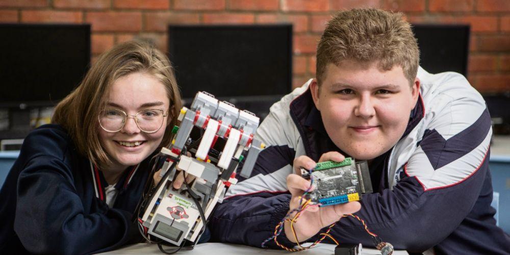 Year 9 Morley SHS students Xander Ferguson and Madison Ballard. Picture: Michael Wilson