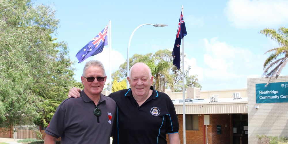 John Forrest and Ken Beven at the Veterans Support Centre Joondalup.