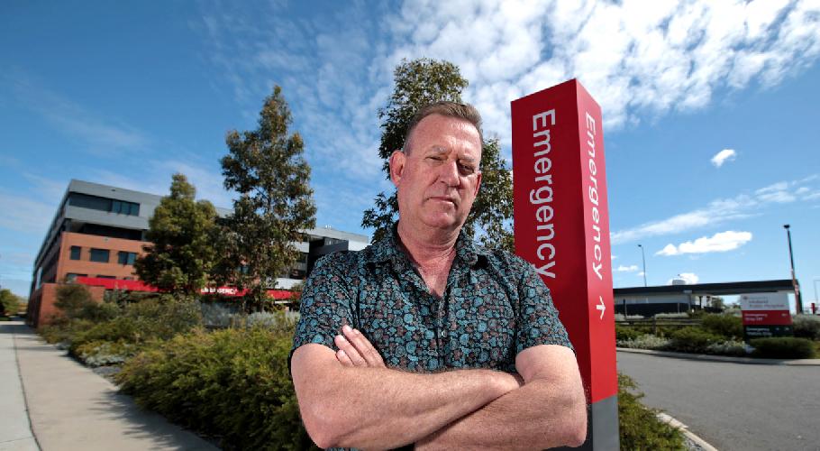 Murray Kinnane outside Midland Hospital. Picture: David Baylis