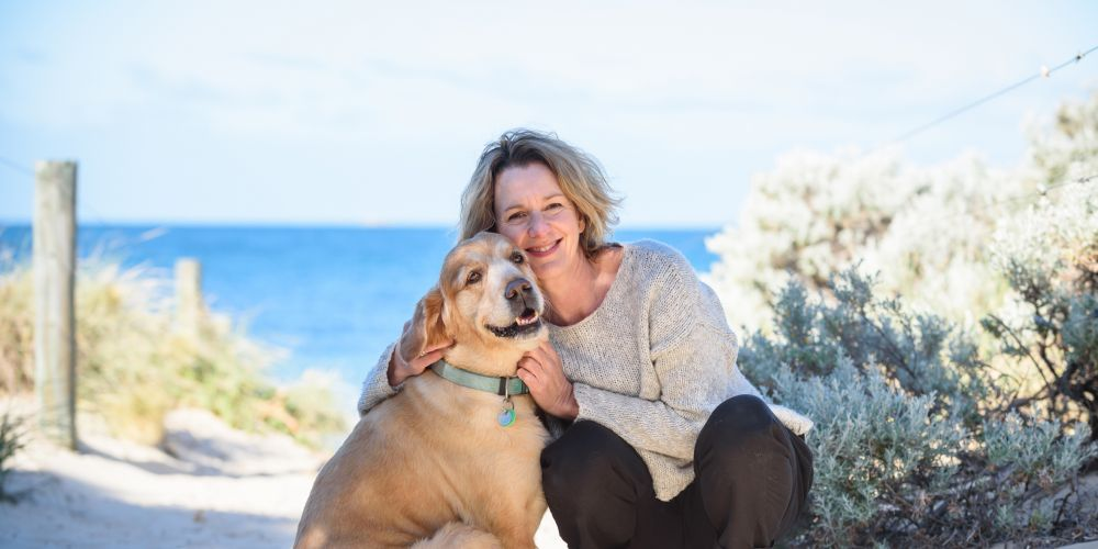 Word of Dog author and illustrator Megan Anderson with Indi.