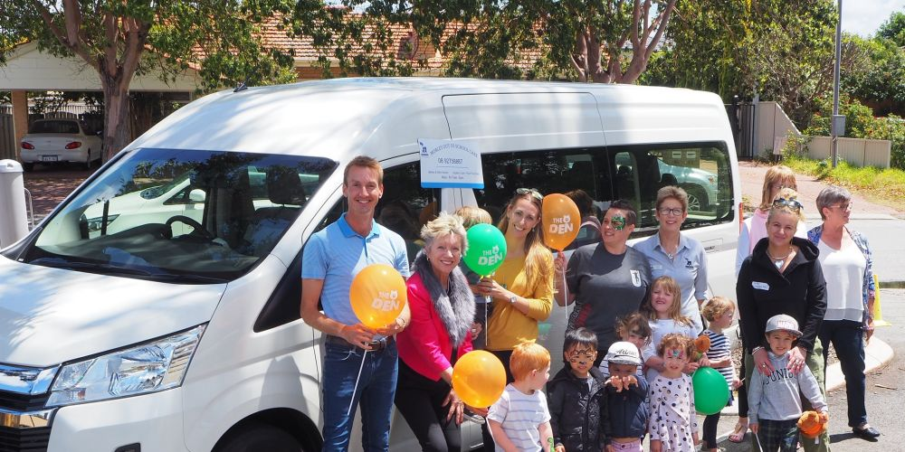Bayswater councillor Cr Steve Ostaszewskyj, Bayswater Child Care Association chair Cr Sally Palmer, committee secretary Sereena Garbett, Joey Cookman former chair, The DEN manager Ann Mills, Silverwood chair Nikki Staveley, Cr Michelle Sutherland and Cr Stephanie Gray with toddlers.